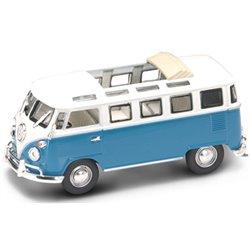 1962 Volkswagen Samba Bus (Light Blue-White)