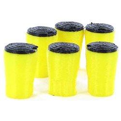 Crash Absorption Barrels - 6-Pack - Yellow/Black