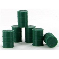 Barrels, 55 Gallon - 6-Pack - Dark Green