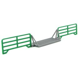 Cattle Guard Crossing w/2 Panels - Green/Gray