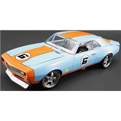 "1968 Chevy Street Fighter Camaro ""Gulf"" (Light Blue w/Orange Stripes)"