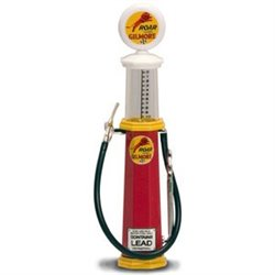 "1920's Wayne Cylindrical Gas Pump ""Gilmore 'Roar' Gasoline"""