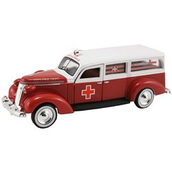 1937 Studebaker Ambulance (Red/White)