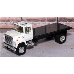 Ford LN-9000 Single Axle Flatbed Truck with Tilting Bed (White/Black)