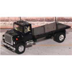 Ford LN-9000 Single Axle Flatbed Truck with Tilting Bed (Black)