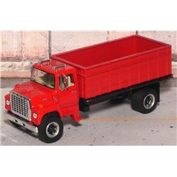 Ford LN-9000 Single Axle Grain Truck with Tilting Bed (Red)