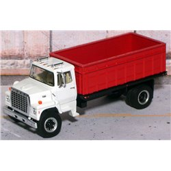 Ford LN-9000 Single Axle Grain Truck with Tilting Bed (White/Red)