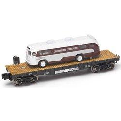 Norfolk Southern Flatcar w/Continental Trailways Flxible Clipper Bus