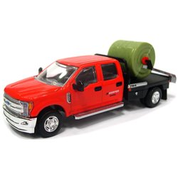 2018 Ford F-350 DewEze Pivot Squeeze Bale Feeder Truck (Red/Black)