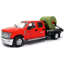 2018 Ford F-350 DewEze Parallel Squeeze Bale Feeder Truck (Red/Black)