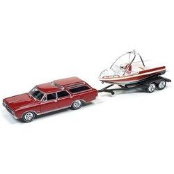 1964 Oldsmobile Vista Cruiser w/Fishing Boat & Trailer (Red)