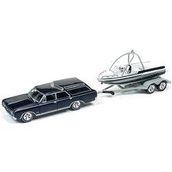 1964 Oldsmobile Vista Cruiser w/Fishing Boat & Trailer (Black)