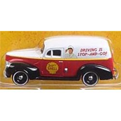 "1940 Ford Delivery Van ""Shell"" (Red/White/Black)"