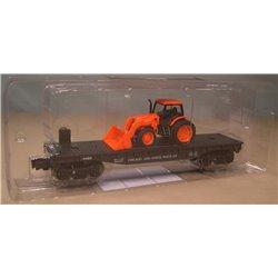 Chicago & North Western Flat Car w/Kubota Tractor