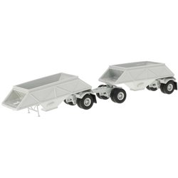 1955 Double Bottom Dump Trailers (Silver)