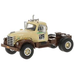 """1955 Diamond T 921 Day-Cab Conventional Tractor (Dark Brown/Beige) """"Williams & Sons Supply Co"""""""