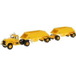 "1955 Diamond T 921 w/Double Bottom Dump Trailers (Yellow) ""Armstrong Bros."""