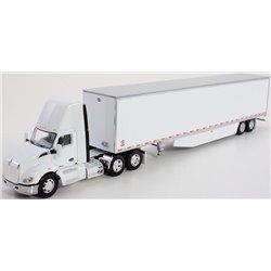 Kenworth T680 w/53' Utility Dry Van Trailer w/Trailer Skirts (White)