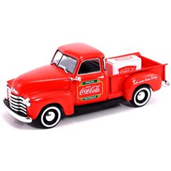 """1953 Chevy Pickup w/Metal Cooler """"Coca-Cola"""" (Red)"""