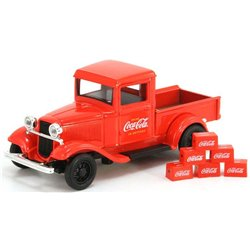 "1934 Ford Model A Pickup w/6 Bottle Cartons ""Coca-Cola"" (Red)"