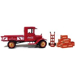 "1923 Ford Model TT Pickup w/Hand Cart & Bottle Cartons ""Coca-Cola"" (Red)"