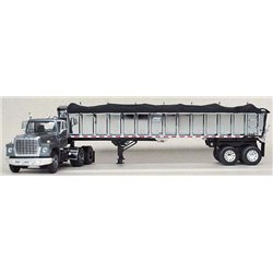 "Ford LN-9000 ""Louisville"" w/Chrome East End Dump Trailer (Gunmetal Gray)"