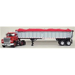 "Ford LN-9000 ""Louisville"" w/East End Dump Trailer (Red)"