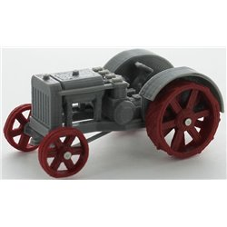 1922 Case 22-40hp Cross-Motor Tractor - Gray/Red