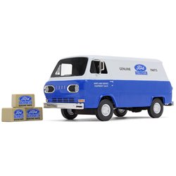 "1960s Ford Econoline Van (Blue) w/3 Boxes ""Ford Tractor Parts & Service"""