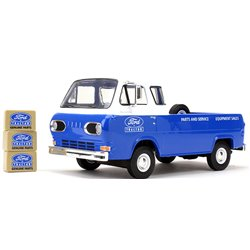 "1960s Ford Econoline Pickup (Blue) w/3 Boxes ""Ford Tractor Parts & Service"""