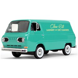 "1960s Ford Econoline Van (Teal) ""Clean-Rite Laundry and Dry Cleaners"""