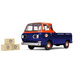 "1960s Ford Econoline Pickup (Blue/Orange) w/3 Boxes ""Allis-Chalmers Parts & Delivery"""