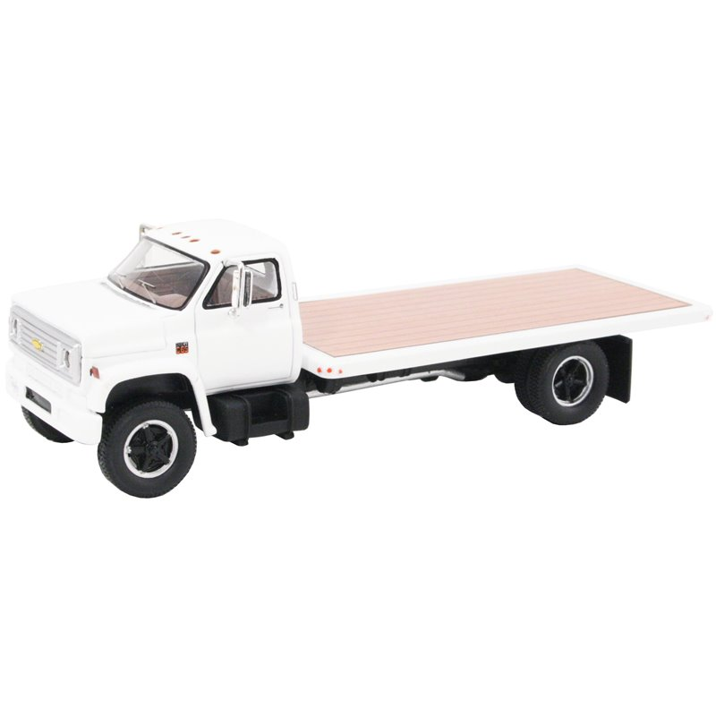 1975 Chevy C-65 Flatbed Truck (White)