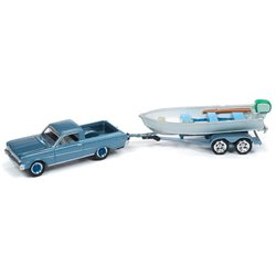 1965 Ford Ranchero w/Vintage Fishing Boat (Silver Blue)