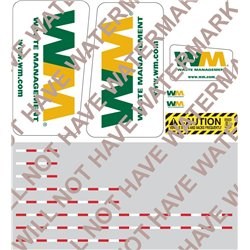 1:64th Scale Waste Management Decal Set for Front Load Garbage Truck