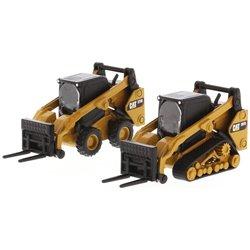 Caterpillar 272D2 Skid Steer Loader & 297D2 Track Loader w/Accessories