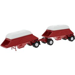 1955 Anhanger Double Bottom Dump Trailers (Red) with Covers (White)