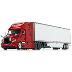Freightliner Cascadia w/53' Dry Van Trailer & Skirts (Red/White)