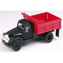 1941 Chevrolet Dump Truck (Raven Black w/Red Dump Body)