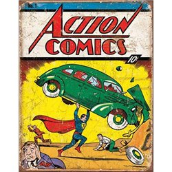 Action Comics No1 Cover - Superman (Weathered)