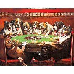 8 Druken Dogs Playing Cards