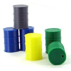 Barrels, 55 Gallon - 6-Pack - Assorted Colors